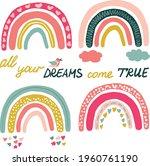 vector rainbow clip art....   Shutterstock .eps vector #1960761190