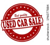 stamp with text used car sale... | Shutterstock .eps vector #196077884