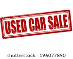 stamp with text used car sale... | Shutterstock .eps vector #196077890
