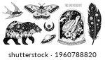 tattoo art. vector surreal... | Shutterstock .eps vector #1960788820