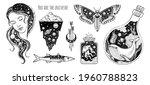 tattoo art. vector surreal... | Shutterstock .eps vector #1960788823