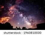 a beautiful milkyway on a night ...   Shutterstock . vector #1960810030