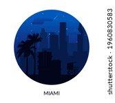 miami  usa famous city scape... | Shutterstock .eps vector #1960830583