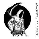 The Grim Reaper  Pointillism...