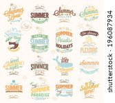retro hand drawn elements for... | Shutterstock .eps vector #196087934