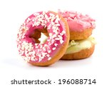 colorful delicious donuts... | Shutterstock . vector #196088714