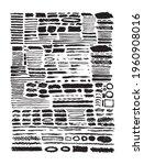 set of black paint  ink brush... | Shutterstock .eps vector #1960908016