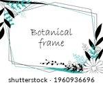 botanical frame illustration.... | Shutterstock .eps vector #1960936696