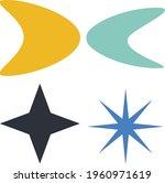 mid century modern googie...   Shutterstock .eps vector #1960971619