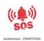 sos icon symbol button....   Shutterstock .eps vector #1960974310