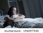 portrait of a young woman... | Shutterstock . vector #196097540