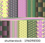 set of  abstract vector paper...