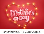 mother's day poster or banner... | Shutterstock .eps vector #1960990816