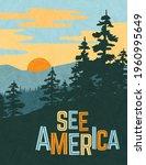 retro style travel poster... | Shutterstock .eps vector #1960995649