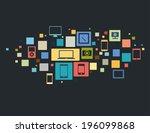 vector illustration of modern... | Shutterstock .eps vector #196099868