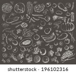 vector illustration of a set of ... | Shutterstock .eps vector #196102316