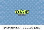 pop art comic background with...   Shutterstock .eps vector #1961031283