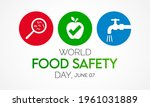 world food safety day  wfsd ...   Shutterstock .eps vector #1961031889