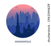 indianapolis  usa famous city... | Shutterstock .eps vector #1961044639