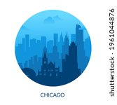 chicago  usa famous city scape... | Shutterstock .eps vector #1961044876