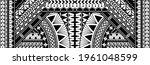 polynesian tattoo pattern maori ... | Shutterstock .eps vector #1961048599