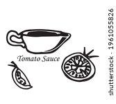 Vector Tomato Hand Drawn...