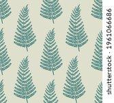 fern leaves green vector... | Shutterstock .eps vector #1961066686