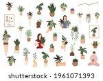 house plants vector set  indoor ... | Shutterstock .eps vector #1961071393