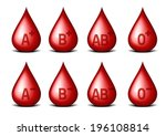 detailed illustration of drops... | Shutterstock .eps vector #196108814