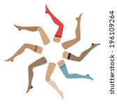 legs with pantyhose   Shutterstock .eps vector #196109264