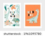 cute and wild   adorable dino.... | Shutterstock .eps vector #1961095780