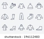 Stock vector clothing icons 196112483