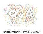 question and answers concept... | Shutterstock .eps vector #1961129359