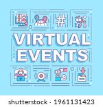 virtual events word concepts...