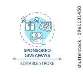 sponsored giveaways concept...   Shutterstock .eps vector #1961131450