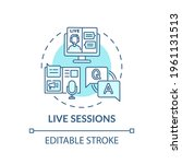 Live Sessions Concept Icon....