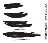 black brushes square. white ink ...   Shutterstock .eps vector #1961132656