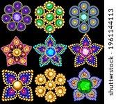 illustration set of jewelry... | Shutterstock .eps vector #1961144113