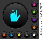 left handed move left gesture... | Shutterstock .eps vector #1961146309