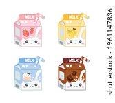 cute colorful milk packaging of ...   Shutterstock .eps vector #1961147836