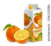 juice carton cardboard box pack ... | Shutterstock .eps vector #196115384