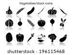 vegetable organic food black... | Shutterstock .eps vector #196115468