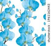 tropical floral seamless... | Shutterstock . vector #1961162443