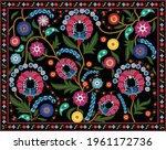 traditional embroidery textile... | Shutterstock .eps vector #1961172736