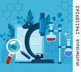 biotechnology concept. biology  ...   Shutterstock .eps vector #1961189263