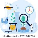 biotechnology concept. biology  ...   Shutterstock .eps vector #1961189266