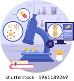 biotechnology concept. biology  ...   Shutterstock .eps vector #1961189269