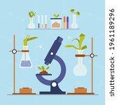 biotechnology concept. biology  ...   Shutterstock .eps vector #1961189296
