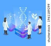 biotechnology concept. biology  ...   Shutterstock .eps vector #1961189299