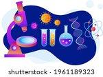 biotechnology concept. biology  ...   Shutterstock .eps vector #1961189323